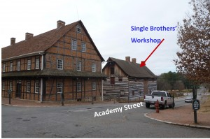 Old Salem Single Brothers Workshop - View from Main and Academy