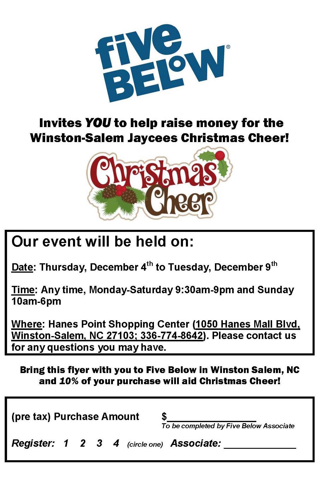 Christmas Fundraiser Flyer.5 Below Fundraiser For Christmas Cheer 2014 12 04